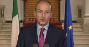 Taoiseach Micheál Martin addresses the nation on Friday night.
