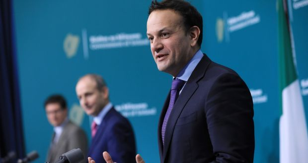 "Tánaiste Leo Varadkar  said many people had experienced a ""rotten year"" in 2020. He was speaking at   a press conference at Government Buildings on Friday. Photograph: Julien Behal Photography/PA Wire"