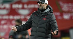 Liverpool manager Jürgen Klopp has told his players they cannot use his complaints about the fixture schedule as an excuse to underperform. File photograph: Peter Powell/PA Wire
