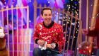 Ryan Tubridy on the Roald Dahl themed set of this year's The Late Late Toy Show. Photograph: Andres Poveda