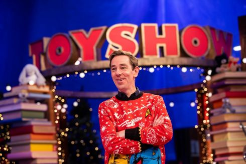 Late Late Toy Show 2020: Ryan Tubridy pictured on the Roald Dahl themed set of this years The Late Late Toy Show. Photograph: Andres Poveda
