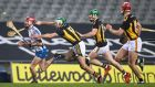 Jack Prendergast of Waterford tries to get clear of the challenge of Kilkenny's Paddy Deegan  during the  All-Ireland SHC semi-final at Croke Park. Photograph: Tommy Dickson/Inpho