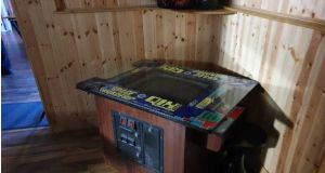 The shebeen in Co Kerry had a Space Invaders game and an 80 inch television.