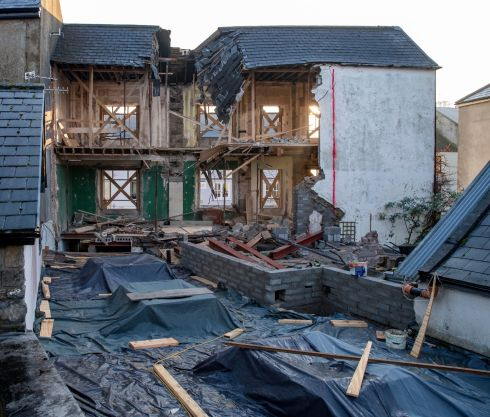 TRALEE TRAGEDY: A man in his 60s died, and five others were injured when part of a building collapsed on Ashe Street in Tralee on Saturday.