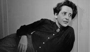Political theorist and author Hannah Arendt pictured in  1949. Photograph: Fred Stein Archive/Archive Photos/Getty Images