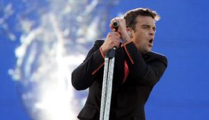 Robbie Williams  at Croke Park in June 2006. Photograph: Cyril Byrne