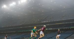 Numbers peaked at the end of Limerick's semi-final with Galway, with 648,000 tuning-in at 5.43pm, just as the game was spilling towards added time. Photograph: Inpho