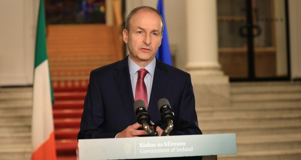 Taoiseach Micheál Martin: 'It would stick in the Taoiseach's throat if he mentioned Jesus at all,' says Fr Hughes. 'All he could talk about the other evening was Mr Fox and Roald Dahl.' Photograph: Julien Behal/PA Wire