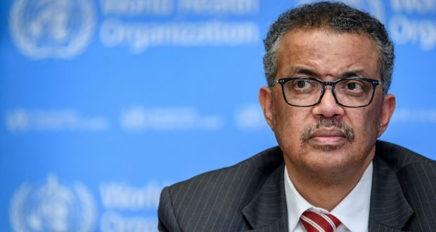 World Health Organisation (WHO) Director-General Tedros Adhanom Ghebreyesus said people could try to stay safe by celebrating within their households and avoid gatherings with many different households. Photograph: Fabrice Coffrini/AFP/Getty