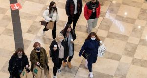 Shoppers in the Dundrum Town Centre, Dublin. Photograph: Colin Keegan/Collins Dublin