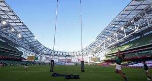 Ireland will take on Scotland at the Aviva Stadium this Saturday. Photo: Niall Carson/AFP via Getty Images