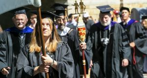 A commencement ceremony at Yale University. Photograph: Getty Images.