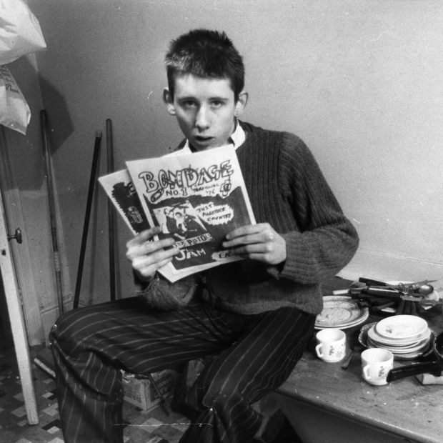Fairytale of New York: Shane MacGowan in 1977, when he was 19, and editing the punk magazine Bondage in London. Photograph: Sydney O'Meara/Getty