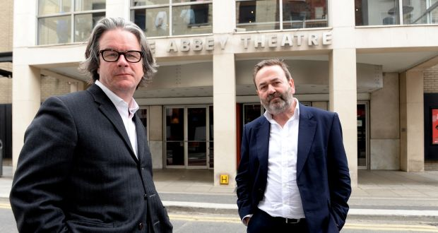 "Abbey Theatre directors Graham McLaren (left) and Neil Murray: Calling on the Government to ""look again at the reopening of theatres both in light of our readiness and for the mental health and wellbeing of theatre-goers"". Photograph: Cyril Byrne/The Irish Times"