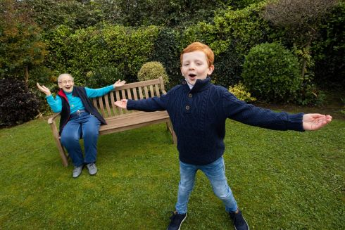Sing Ireland unveiled new initiatives to encourage all generations to continue hitting the high notes during lockdown. At the launch was former Supreme Court Justice Mrs Catherine McGuinness and seven-year-old Sean O Ceallachain.