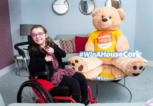 Claire McCarthy from Carrigaline at Enable Ireland's launch of Win A House Cork. The charity is raffling a show house, a car to the value of €25,000 and €5,000 cash. Tickets are priced at €100 and may be purchased on winahousecork.ie to raise vital funds for the new Lavanagh Children's Services Centre in Cork. Photograph: Gerard McCarthy