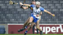Conor Delaney tackles Dessie Hutchinson in last weekend's All-Ireland hurling semi-final. Photograph: Inpho