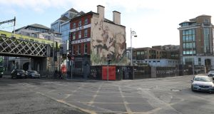The Johnny Ronan site on the corner of Tara Street and the quays. Photograph Nick Bradshaw