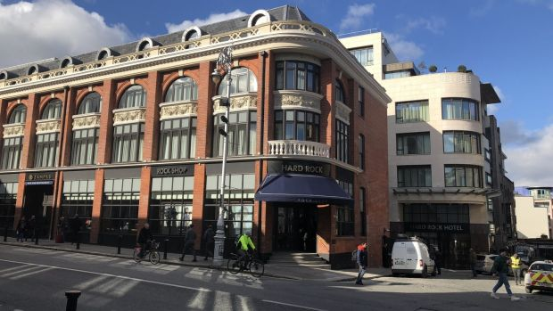 The Hard Rock Hotel in Temple Bar, which opened its doors two days before the first virus case in Ireland was confirmed
