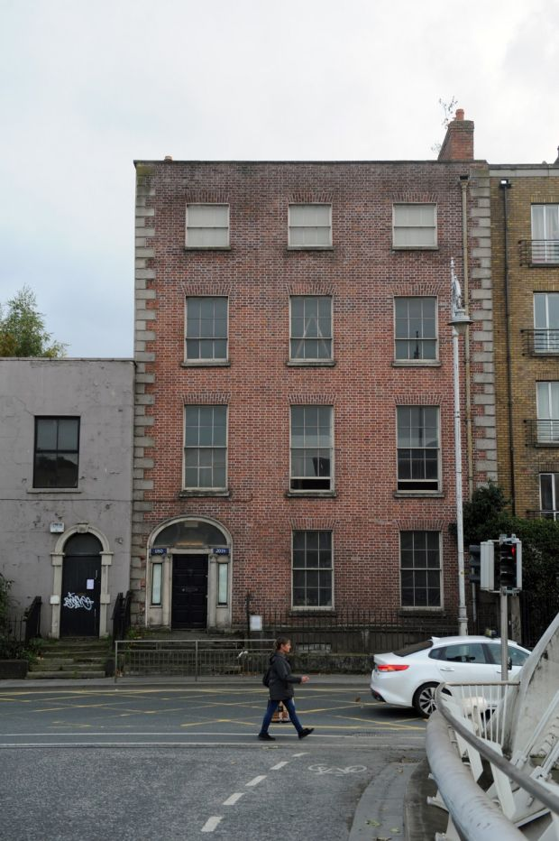 The house from James Joyce's The Dead on Dublin's quays. Photograph: Aidan Crawley