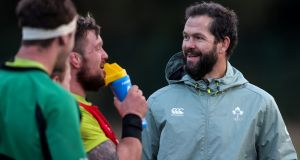 Ireland head coach Andy Farrell: 'I'm big enough and ugly enough to have been around professional sport most of my life. This is another big game – I'm aware of that – but the stress levels are okay.' Photograph: Dan Sheridan/Inpho