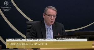 Sinn Féin TD Brian Stanley, chairman of the Public Accounts Committee, apologising for posting a controversial tweet