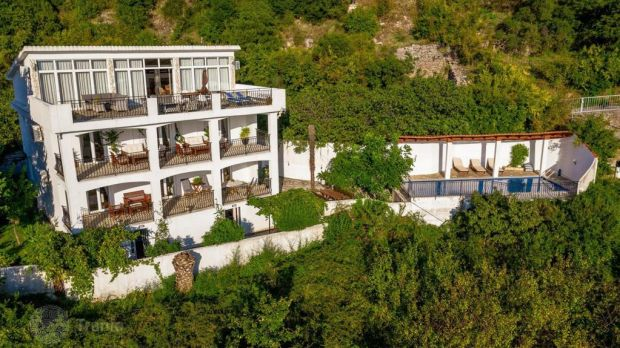 This large four-storey house in Becici, Montenegro has super maritime views