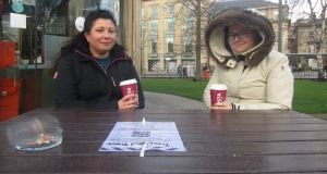 "Melisha Squire and Lesley Blues in the centre of Edinburgh: ""Nicola Sturgeon has done such a good job, "" says Ms Blues. ""But that doesn't mean I want independence."" Photograph: Freya McClements"