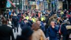 Shoppers on Grafton Street:  The idea many have of Ireland as a uniquely badly governed and unsuccessful country is one that our peers would not recognise. Photograph: Crispin Rodwell