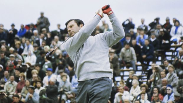 Peter Alliss at the 1968 Open Championship at Carnoustie. Photo: Getty Images