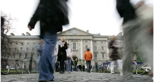 Trinity College Dublin has the highest proportion of students from affluent areas, at 36%. Photograph: Dara Mac Dónaill