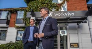Workvivo co-founders Joe Lennon, chief technology officer (left) and chief executive John Goulding.