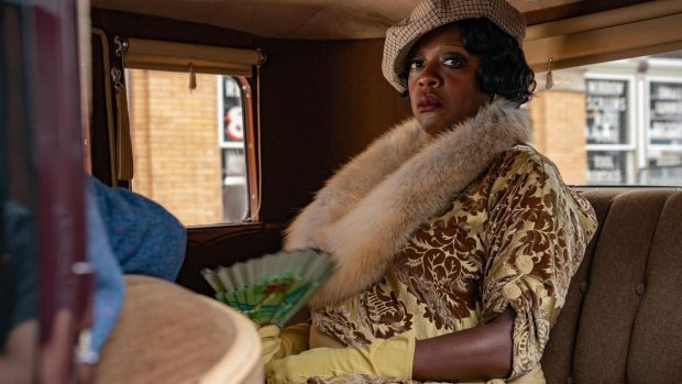 Viola Davis plays the blues singer Ma Rainey, in a film centered around a Chicago recording session. Photograph: David Lee / Netflix