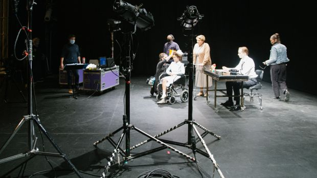 Filming Conor Linehan's The Patient Woman. Photograph: Laura Sheehan