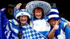 Waterford fans Shelly, Brigid and Aoife Phelan at Croke Park for the 2017All-Ireland final against Galway. Photograph: James Crombie/Inpho