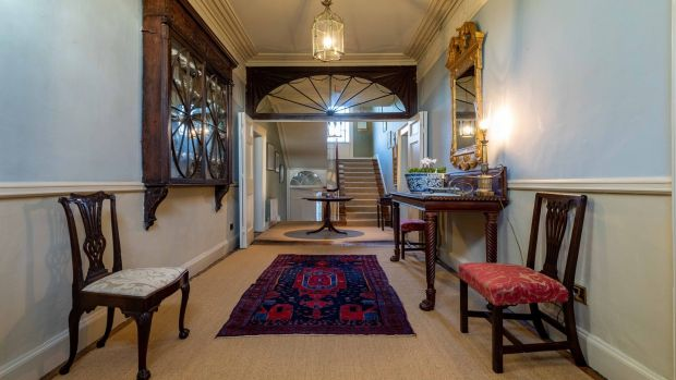 The entrance hall at Ballysallagh. Photograph: Dylan Vaughan.