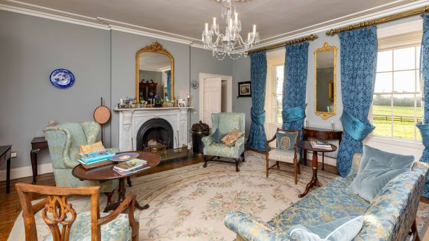 The drawing room at Ballysallagh. Photograph: Dylan Vaughan.