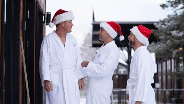 Gordon Ramsay, Gino D'Acampo and Fred Sirieix in Gordon, Gino & Fred: Desperately Seeking Santa