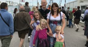 Simon and Niamh Blake in Munich earlier this year with their daughters Julia, April and  Nina