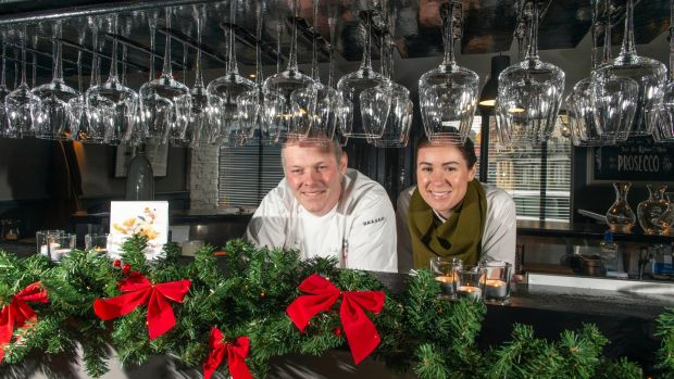 Paul McDonald and Helen Noonan of Bastion, Kinsale, Co Cork, which got a Michelin star last year. Photograph: Michael MacSweeney/Provision