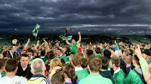 Limerick celebrate their under-21 final win over Cork in 2011. Photograph: James Crombie/Inpho