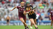 Galway's Sarah Dervan and Denise Gaule of Kilkenny in action during last year's final at Croke Park. Photograph: Bryan Keane/Inpho