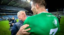 Limerick manager John Kiely and Dan Morrissey celebrate winning the All-Ireland hurling final at Croke Park. Photograph: Morgan Treacy/Inpho