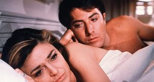 Anne Bancroft and Dustin Hoffman in The Graduate (1967)