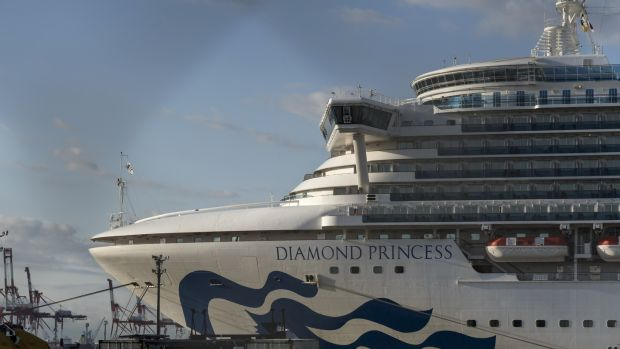 The quarantined Diamond Princess cruise ship: more than 700 passengers tested positive for coronavirus. Photograph: Tomohiro Ohsumi/Getty