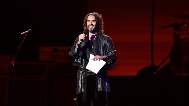 Russell Brand has started questioning the use of vaccines. Photograph: Amy Sussman/Getty Images