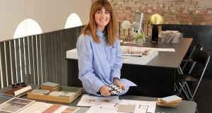 Tonya Douglas-Newell at her office, Little Design House, Interior designer in Monaghan, Co Monaghan. Photograph: Dara Mac Dónaill