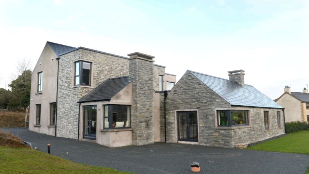 Inge and Declan Ronaghan, new home in Coolmuckbane, Co Monaghan. Photograph: Dara Mac Dónaill