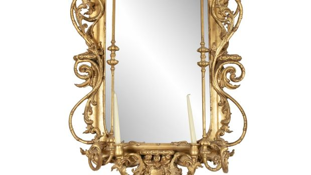 19th C giltwood and gesso mirror €1,500–€2,000
