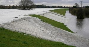 The River Don threatens to burst its banks on November 8th, 2019, in Barnby Dun, near Doncaster, United Kingdom. Photograph: Christopher Furlong/Getty Images